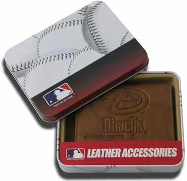 Arizona Diamondbacks Embossed Leather Trifold Wallet