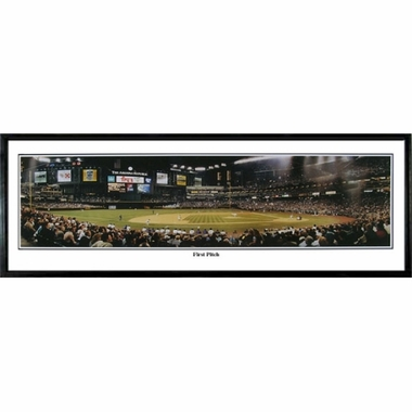 Arizona Diamondbacks First Pitch Framed Panoramic Print