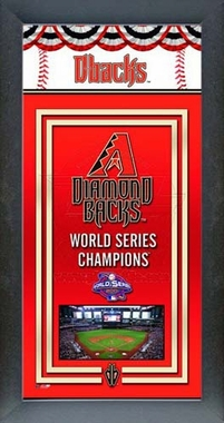 Arizona Diamondbacks Framed Championship Banner