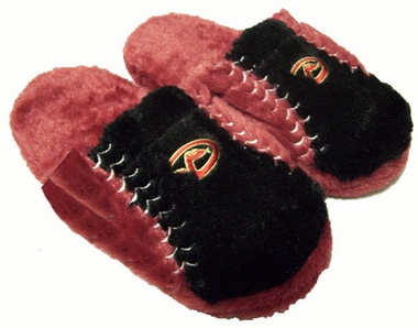 Arizona Diamondbacks Fuzzy Slippers - Large