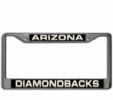 Arizona Diamondbacks Laser Etched Chrome License Plate Frame