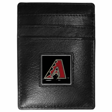 Arizona Diamondbacks Leather Money Clip/Cardholder Packaged in Gift Box (F)