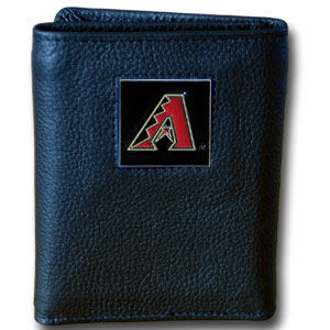 Arizona Diamondbacks Leather Trifold Wallet (F)