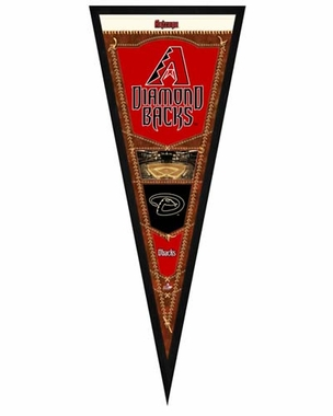 "Arizona Diamondbacks Pennant Frame - 13""x33"" (No Glass)"