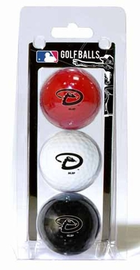 Arizona Diamondbacks Set of 3 Multicolor Golf Balls