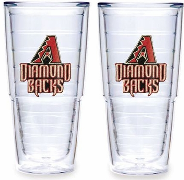 "Arizona Diamondbacks Set of TWO 24 oz. ""Big T"" Tervis Tumblers"
