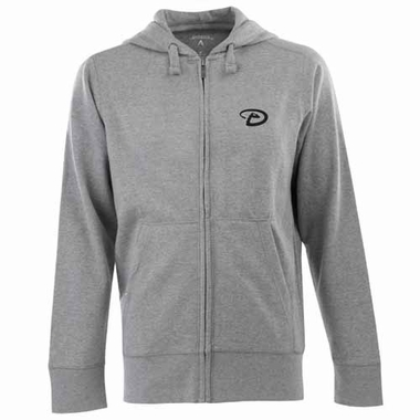 Arizona Diamondbacks Mens Signature Full Zip Hooded Sweatshirt (Color: Gray)