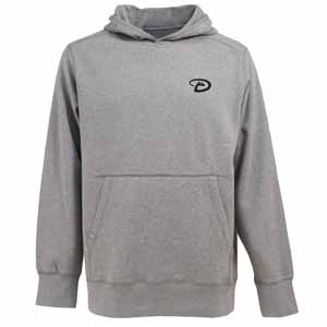 Arizona Diamondbacks Mens Signature Hooded Sweatshirt (Color: Gray) - Small