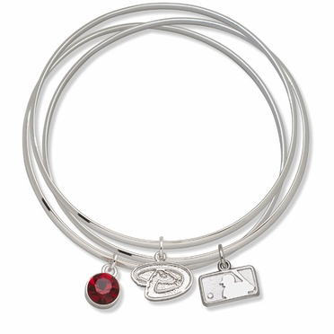 Arizona Diamondbacks Triple Bangle Bracelet
