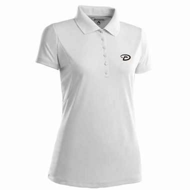 Arizona Diamondbacks Womens Pique Xtra Lite Polo Shirt (Color: White)