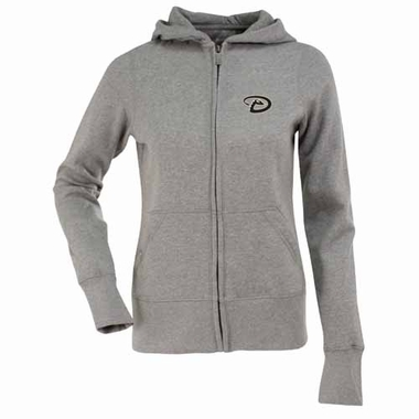 Arizona Diamondbacks Womens Zip Front Hoody Sweatshirt (Color: Gray)