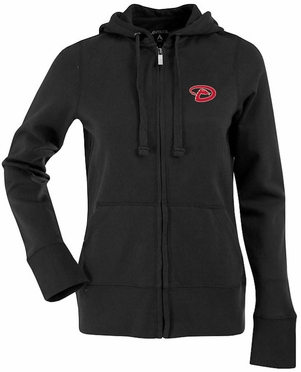 Arizona Diamondbacks Womens Zip Front Hoody Sweatshirt (Team Color: Black)