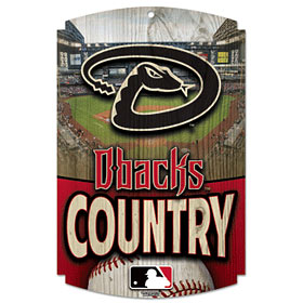 Arizona Diamondbacks Wood Sign