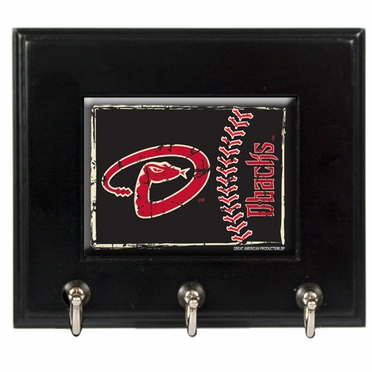 Arizona Diamondbacks Wooden Keyhook Rack