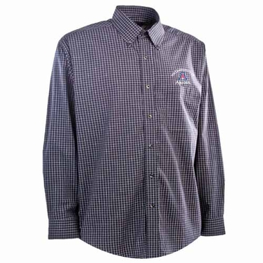 Arizona Mens Esteem Button Down Dress Shirt (Team Color: Navy)