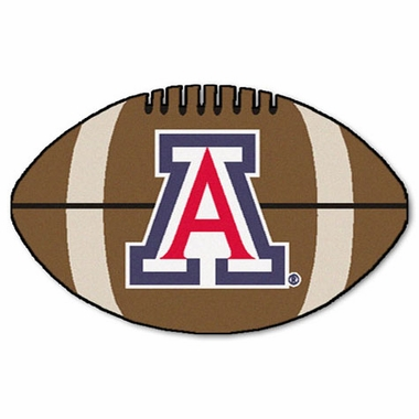 Arizona Football Shaped Rug