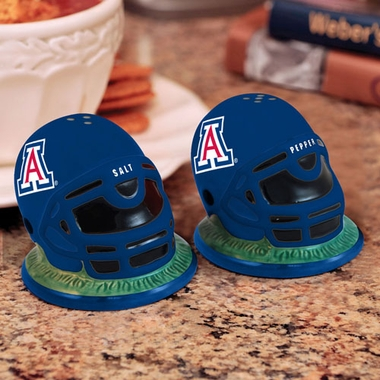 Arizona Helmet Ceramic Salt and Pepper Shakers