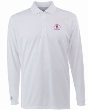 Arizona Mens Long Sleeve Polo Shirt (Color: White)