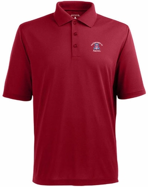 Arizona Mens Pique Xtra Lite Polo Shirt (Color: Red)
