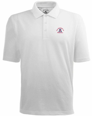 Arizona Mens Pique Xtra Lite Polo Shirt (Color: White)