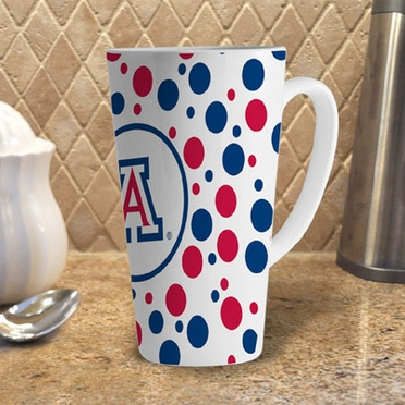 Arizona Polkadot 16 oz. Ceramic Latte Mug