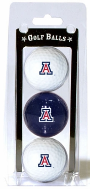 Arizona Set of 3 Multicolor Golf Balls