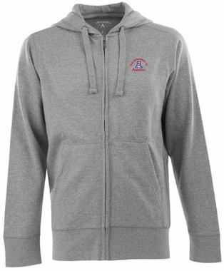 Arizona Mens Signature Full Zip Hooded Sweatshirt (Color: Gray)