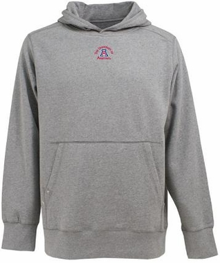 Arizona Mens Signature Hooded Sweatshirt (Color: Gray)