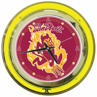 Arizona State 14 Inch Neon Clock