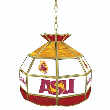 Arizona State 16 Inch Diameter Stained Glass Pub Light