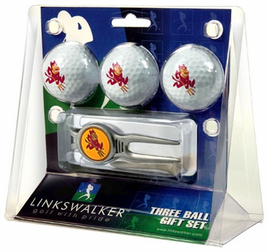 Arizona State 3 Ball Gift Pack With Kool Tool