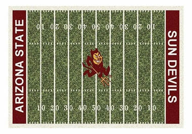 "Arizona State 5'4"" x 7'8"" Premium Field Rug"