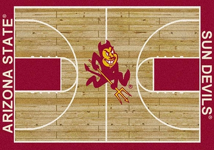 "Arizona State 7'8"" x 10'9"" Premium Court Rug"