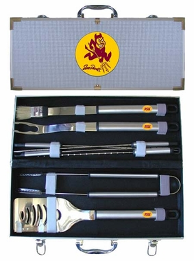 Arizona State 8pc. BBQ Set w/Case
