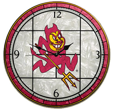 Arizona State Art Glass Clock
