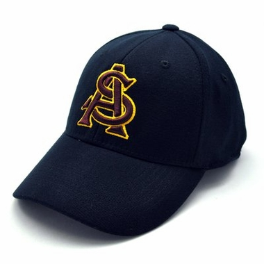 Arizona State Black Premium FlexFit Baseball Hat