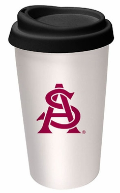 Arizona State Ceramic Travel Cup