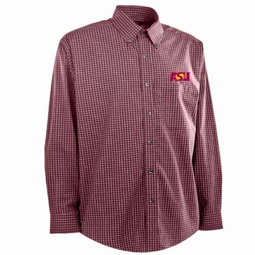 Arizona State Mens Esteem Button Down Dress Shirt (Team Color: Maroon)