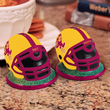 Arizona State Helmet Ceramic Salt and Pepper Shakers