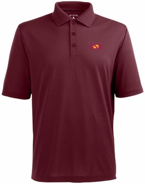 Arizona State Mens Pique Xtra Lite Polo Shirt (Team Color: Maroon)