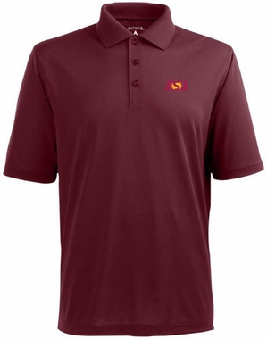 Arizona State Mens Pique Xtra Lite Polo Shirt (Color: Maroon)