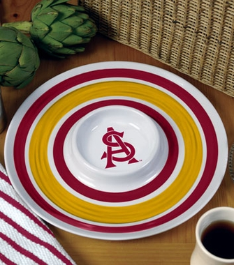 Arizona State Plastic Chip and Dip Plate