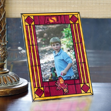 Arizona State Portrait Art Glass Picture Frame