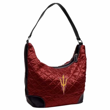 Arizona State Quilted Hobo Purse