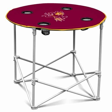 Arizona State Round Tailgate Table