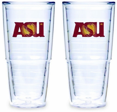 Arizona State Set of TWO 24 oz. Tervis Tumblers
