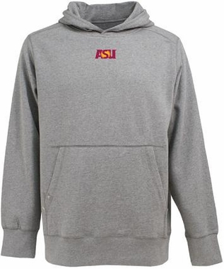 Arizona State Mens Signature Hooded Sweatshirt (Color: Gray)
