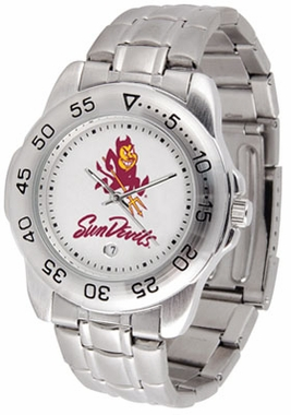 Arizona State Sport Men's Steel Band Watch