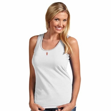 Arizona State Womens Sport Tank Top (Color: White)