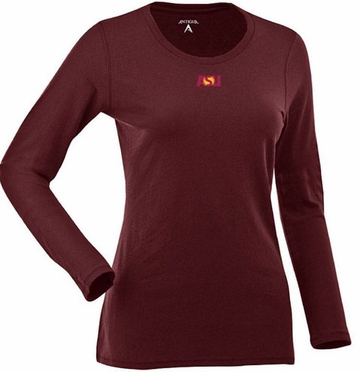 Arizona State Womens Relax Long Sleeve Tee (Team Color: Maroon)